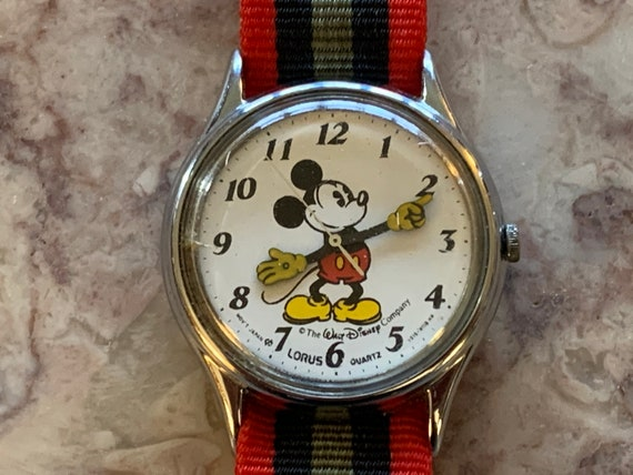 Mickey Mouse Wrist Watch, Round Bezel, Stainless S