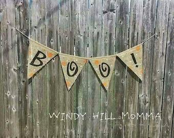 BOO! Burlap Banner Halloween Decoration