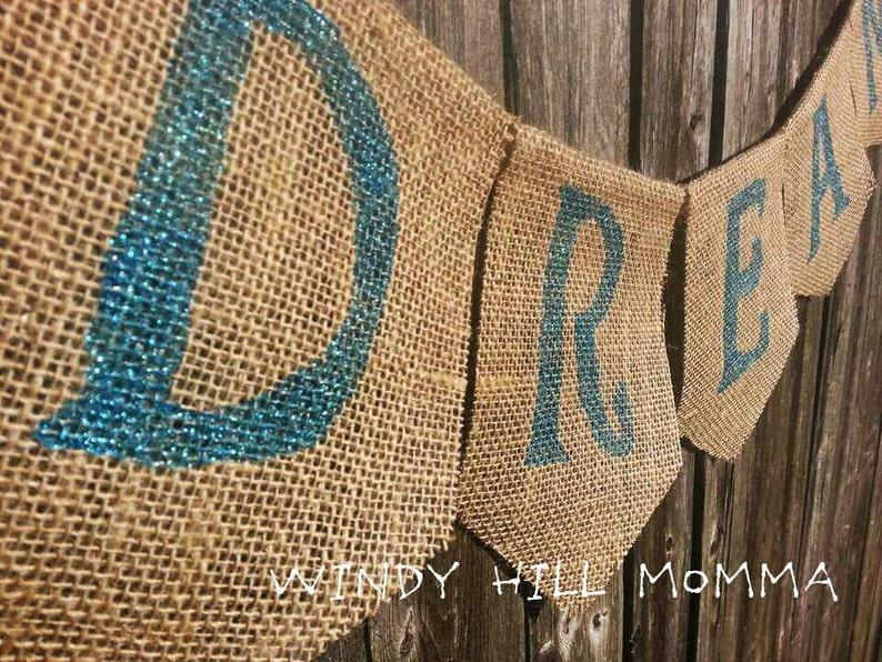 DREAM Burlap Banner