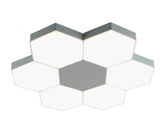 Zazil LED Ceiling semi flush mount Light Contemporary Hexagonal