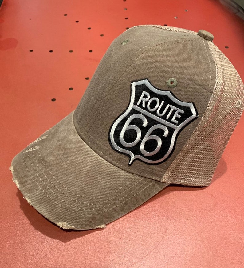 3f2fcac4a Route 66 Trucker Hat - Olive Green