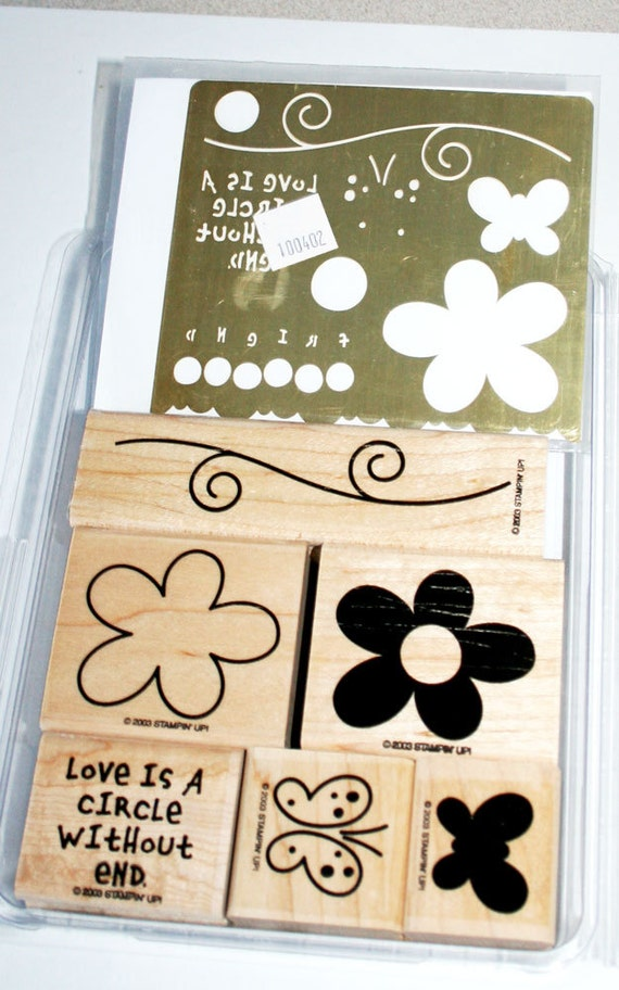 Love Without End Rubber Stamp Set and Dry Embossing Brass Template retired Stampin Up