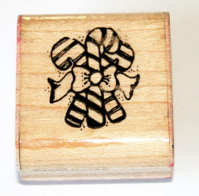 Triple Candy Canes Rubber Stamp from D.O.T.S