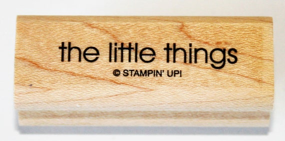 The Little Things Rubber Stamp retired from Stampin Up