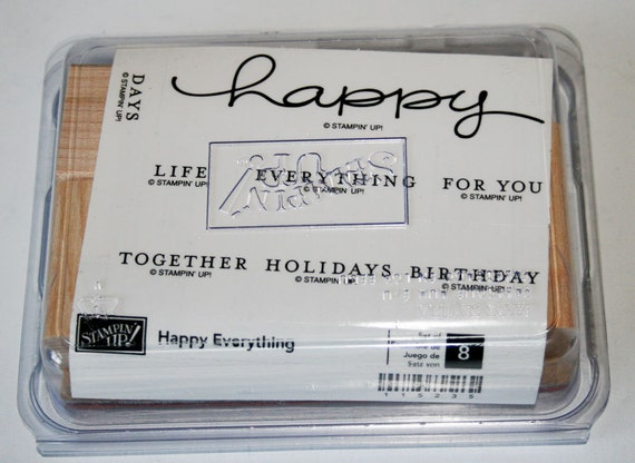 Happy Everything Rubber Stamp Set retired Stampin Up