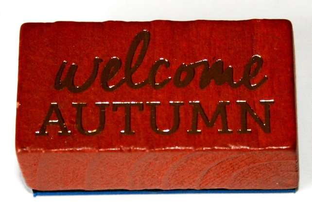 Welcome Autumn Rubber Stamp