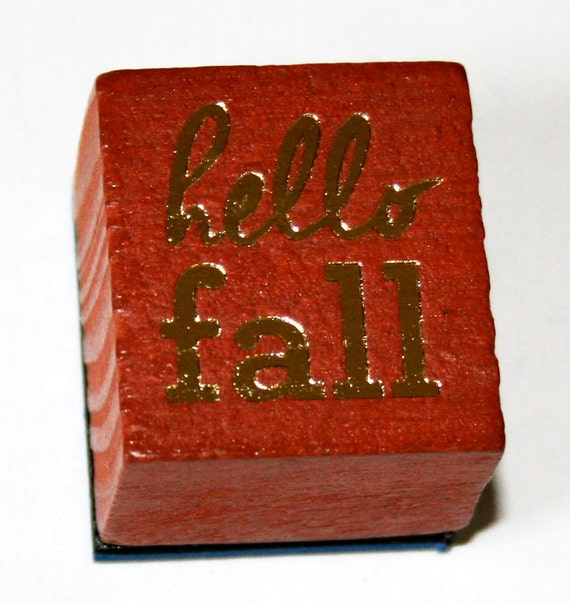 Hello Fall Rubber Stamp