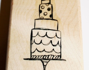 Birthday/Wedding Cake Rubber Stamp from Stampin Up