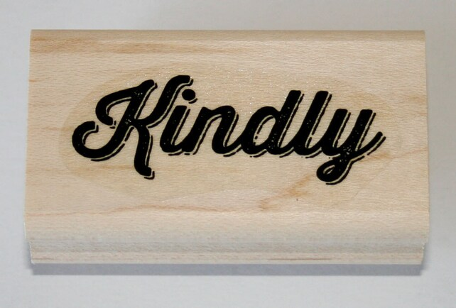 Kindly Rubber Stamp retired from Stampin Up