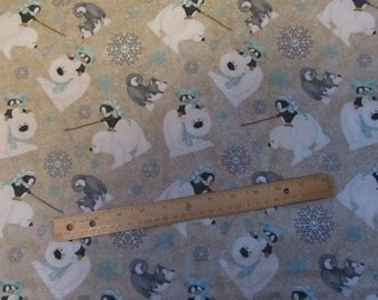 Polar Bear Fabric Etsy