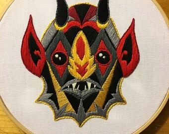 Devil Dude Hoop Embroidery