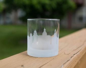 Havana Skyline Silhouette Outline Whiskey Rocks Glasses