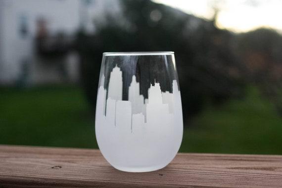 Copenhagen Skyline Wine Glass and Stemless Wine Glass Gift