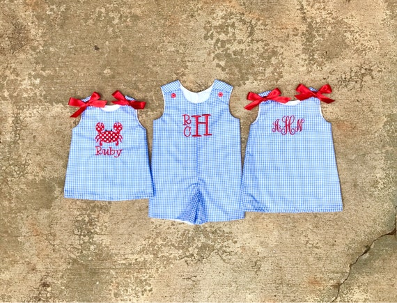 Monogrammed Baby dress Girls beach dress toddler clothes 4th of July outfit baby girl summer baby girl outfits personalized girl clothes