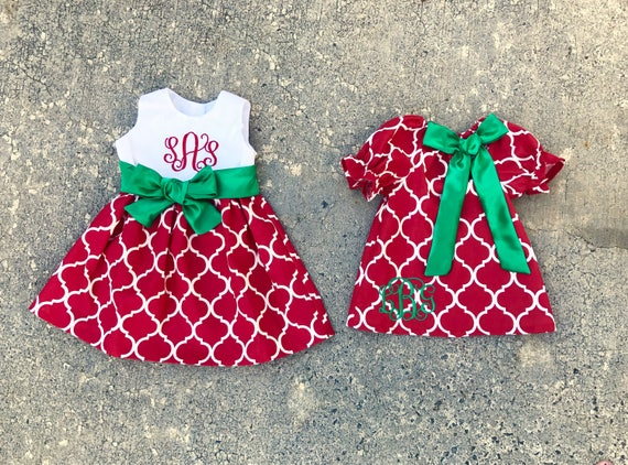 image 0 - Sister Christmas Dresses Matching Sibling Outfits Red And Etsy
