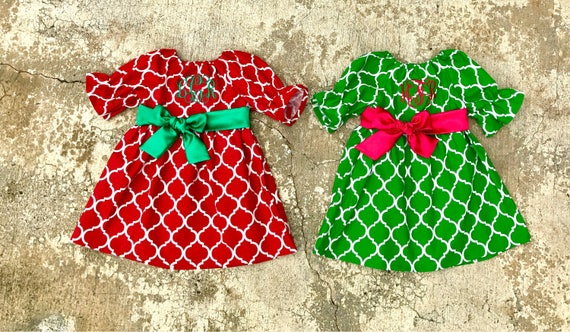 092f0a637167 Matching sister dresses little girl Christmas Outfits red | Etsy