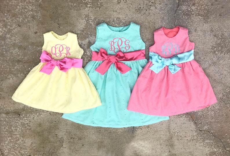 9b9ac7a1f56c Matching Easter dresses Sister outfits Colorful Eyelet | Etsy