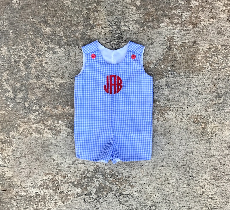 1e3cea696dba 4th of July outfit for boys red white and blue romper blue