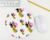 Pineapple Print Mouse Pad / Fruit Print Mousepad / Mat