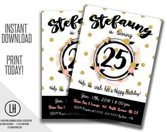 birthday invitation flyer party flyer skate party photoshop etsy