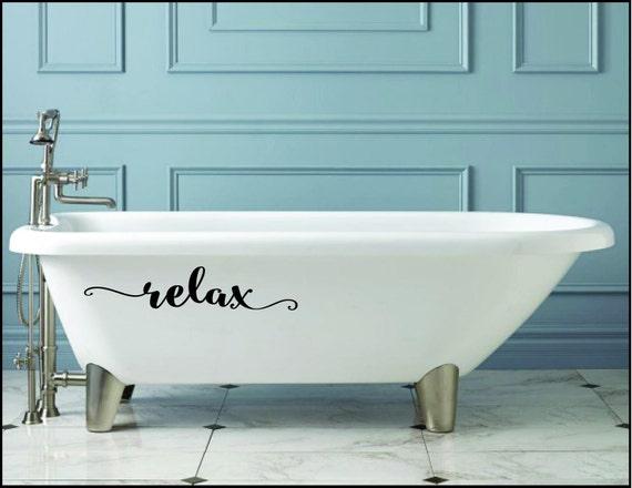 RELAX vinyl wall decal sticker bathroom decor tub sink mirror Free Shipping