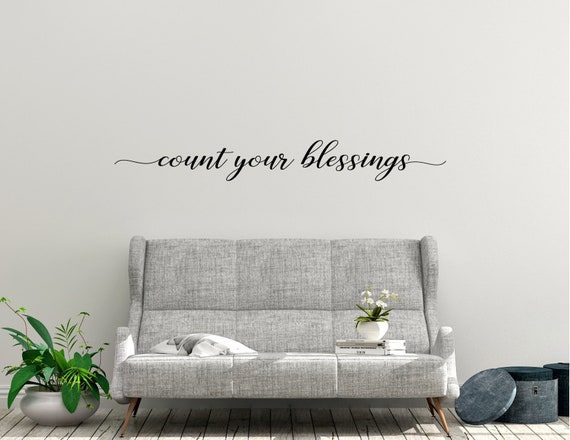 Count Your Blessings Vinyl Wall Sticker Decal Home Farmhouse Etsy