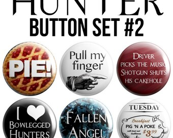 Hunter Pinback Button Set #2