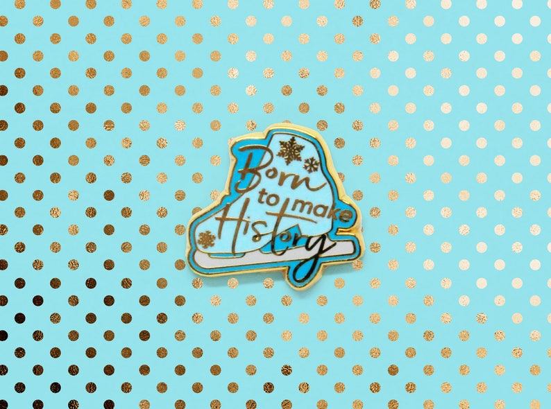Born to Make History Enamel Pin image 0