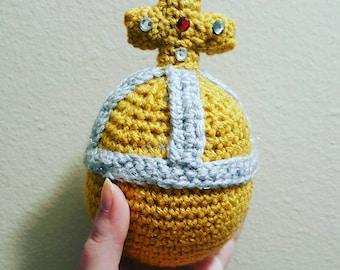Crocheted Holy Hand Grenade of Antioch