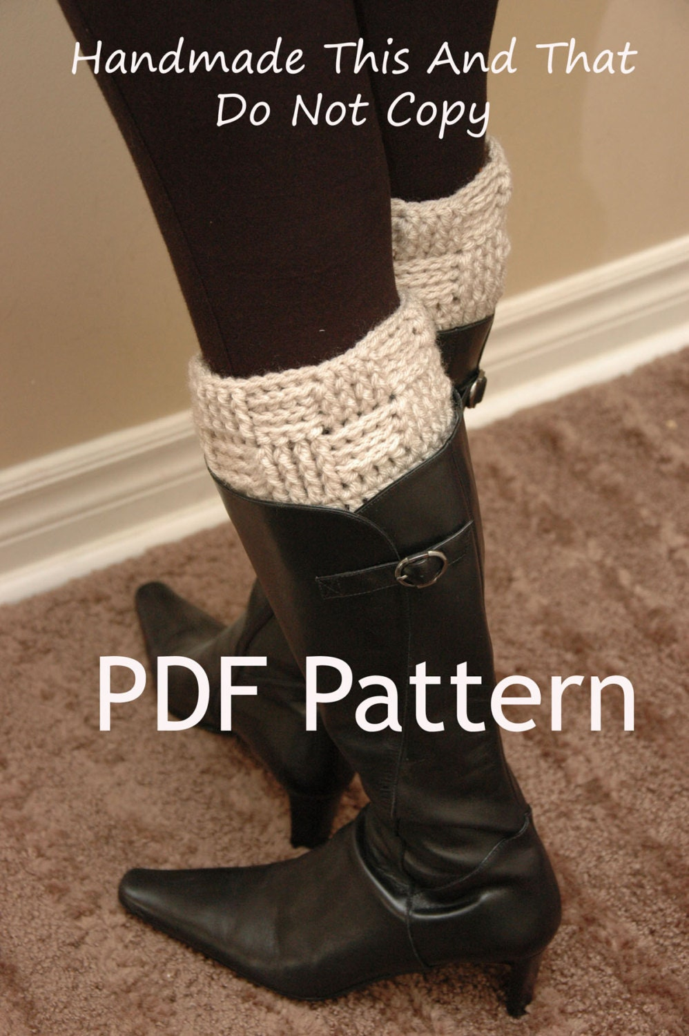 Crochet Boot Cuff Pattern Basketweave Boot Cuffs Leg Etsy