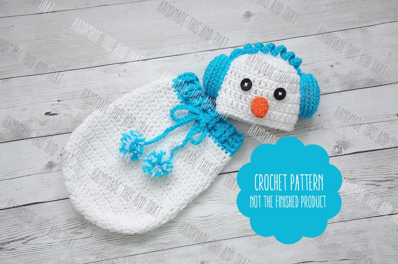 CROCHET PATTERN - Snowman hat pattern, snowman outfit pattern ...