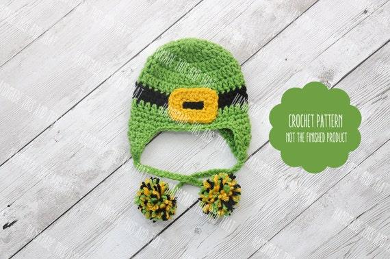 CROCHET PATTERN Newborn Leprechaun hat St Patricks day  2121bed8c8c
