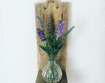 Driftwood pallet shelf