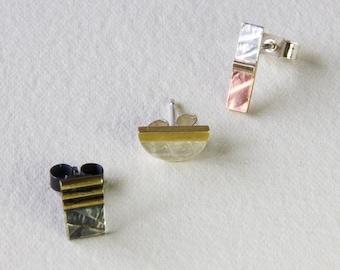 3 mismatch ear-rings