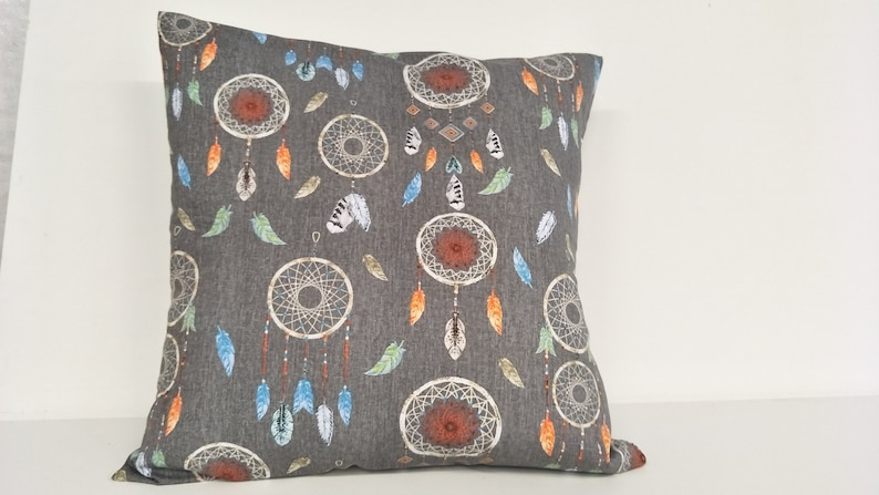 scatter cushion Takes a 26  x 26 insert envelope opening at back floor cushion dreamcatcher cushion Cushion cover pet bed