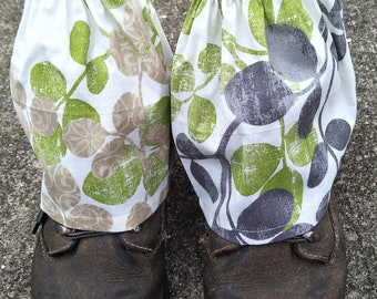 Gardening boot gaiters,  boot covers,  gardening boot  covers, boot guards,  hiking boot gaiters,  One size fits most
