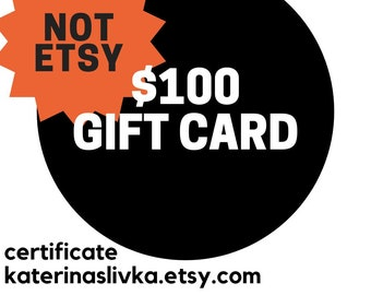 Email Gift Card 100 USD Certificate Printable Buy Prepaid Birthday Anonymous Secret Admirer Fundraiser Item