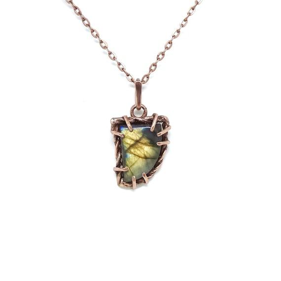 labradorite jewelry Beautiful necklace Boho pendant Rustic necklace labradorite totem blue necklace great jewelry stone necklace