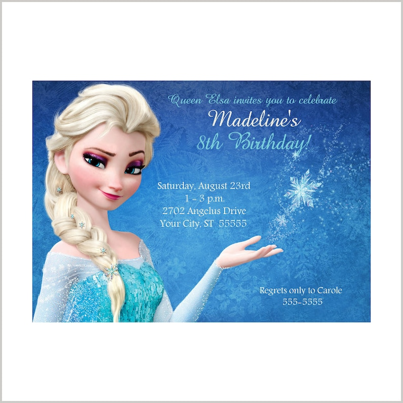 Queen Elsas Frozen Birthday Invitation