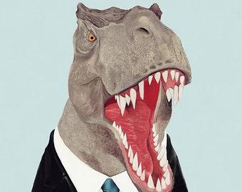 TREX Art Print, Dinosaur Art Print, Tyrannosaurus Rex, Dinosaur Wall Art