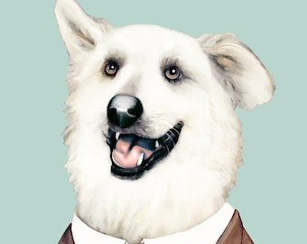 Golden Retriever Art Print, Dog Poster, Animal Crew