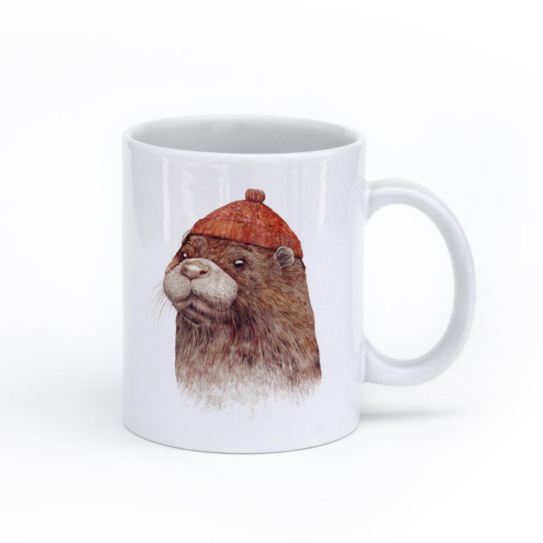 e3a26fb3748b OTTER MUG Animal Mug River Otter Mug | Etsy