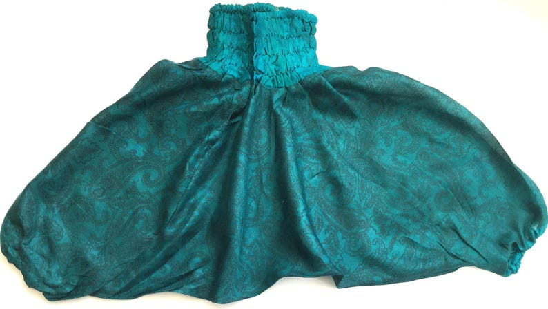 Baby Silk Ali Baba Boho bloomers photoshoot outfit Baby girl bloomers unisex baby clothes boho baby turquoise fern Baby bloomers