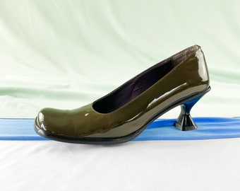 olive green ladies shoes