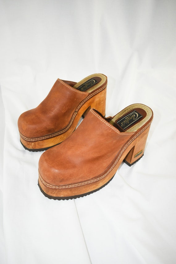 90's Candies Platform Chunky Mules / Block Heels … - image 5