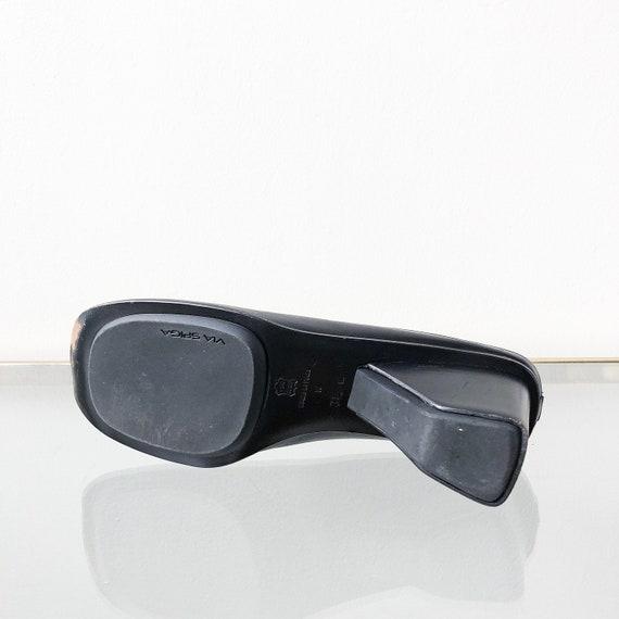 90's Via Spiga Black Mules / Block Heel / Size 7.5 - image 9