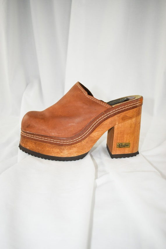 90's Candies Platform Chunky Mules / Block Heels … - image 1