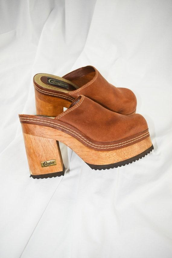 90's Candies Platform Chunky Mules / Block Heels … - image 7