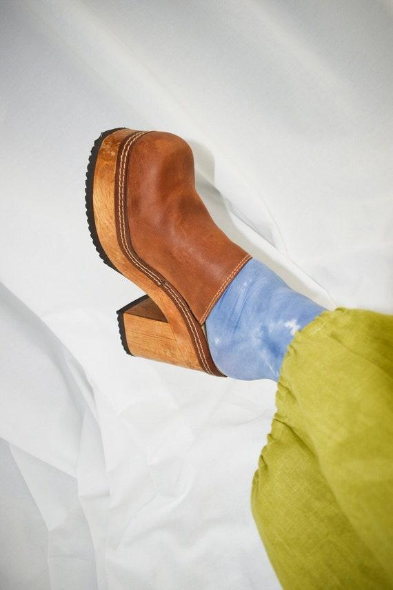 90's Candies Platform Chunky Mules / Block Heels … - image 2