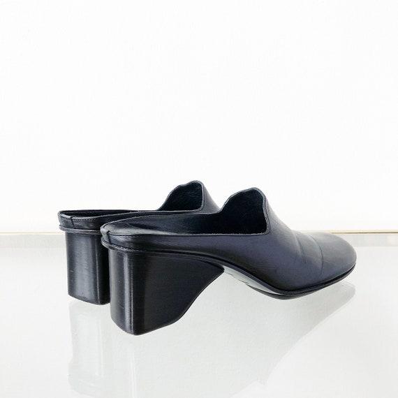 90's Via Spiga Black Mules / Block Heel / Size 7.5 - image 6